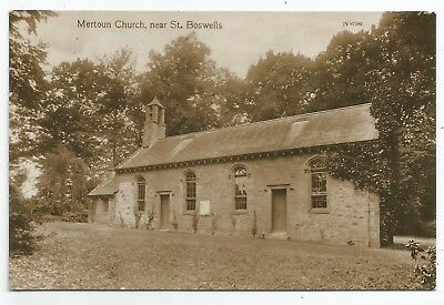 POSTCARDS-SCOTLAND-ST BOSWELLS-RP. Mertoun Church, near St. Boswells.