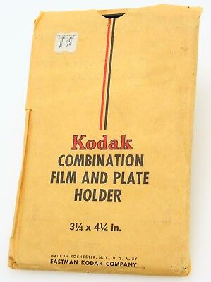 "Kodak 3 1/4x4 1/4"" Combo fllm & plate holder, Made in USA #362854"