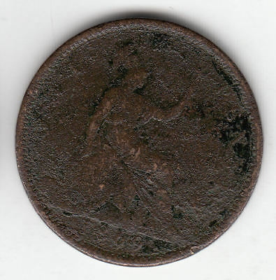 Gb 1D 1869 Victoria Copper Scarce         87A        By Coinmountain