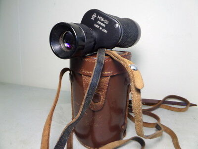Vintage Russian MN8 8x30 Monocular in Leather Case - Military Grade Optics c1978