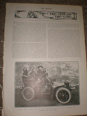 Printed photo Colonel Cody Buffalo Bill and Indian chiefs in car 1903 ref Z