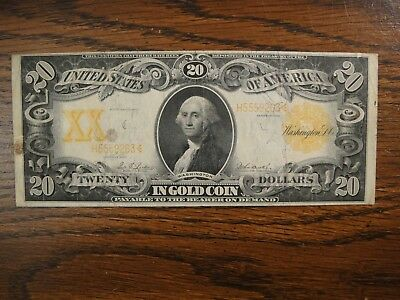 1906 United States $20 Gold Certificate. Friedberg #1185. Very Fine.