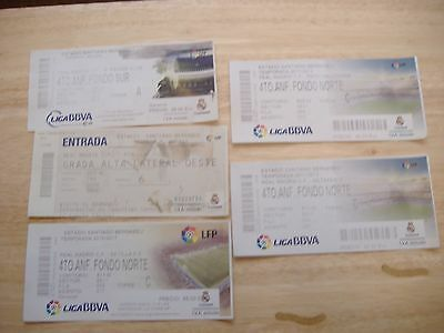 Real Madrid. Home  League Tickets x FIVE ( 2000s)