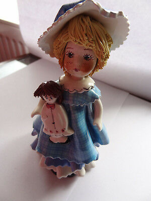 Zampiva Vintage Doll Ornament With Her Doll Excellent Condition Bought In States