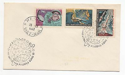 1962 VIETNAM First Day Cover TEAM MANNED SPACE FLIGHTS SGN242 to SGN244 Hanoi