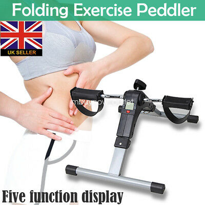 Mini LCD Counter Pedal Exerciser Bike Fitness Exercise Cycle Leg/Arm Stationary