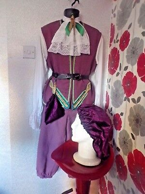 Quality Hand Finished  Medieval Tudor Cavalier Style 4 Piece Outfit Size S