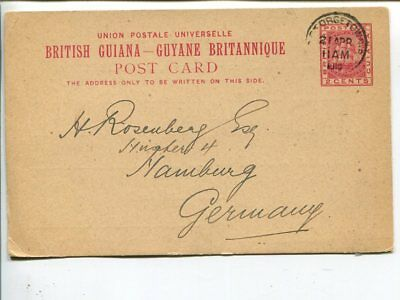 British Guiana post card to Germany 1910