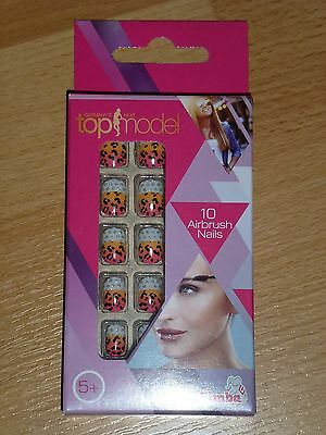 Airbrush Nails , Germany´s Next top model , Tigerlook , NEU !