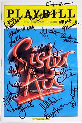 SISTER ACT Broadway Cast Victoria Clark, Patina Miller Signed Playbill