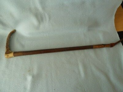 Delightful Vintage Horn Handled Riding Crop