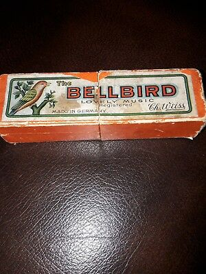 Vintage Boxed C.h. Weiss Bellbird Mouth Organ