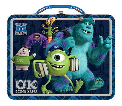 Walt Disney Monsters University Large Carry All Tin Tote Lunchbox Style A NEW