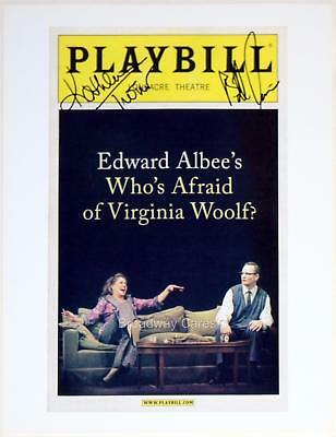 Bill Irwin & Kathleen Turner Signed WHO'S AFRAID OF VIRGINIA WOOLF Print