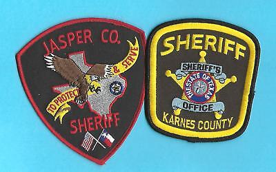 2 Texas Sheriff- Karnes County Sheriff & Jasper County Sheriff