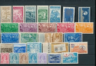 TURKEY MNH MH Suffragette (25+Stamps) AG1427s