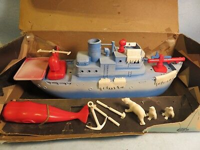 Ideal vintage 1950's Polar Queen ship in original box