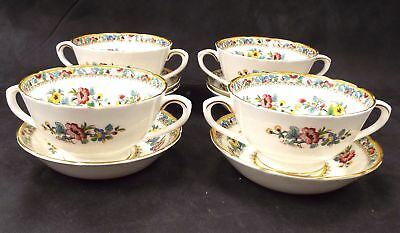 COALPORT Bone China 10 Pieces Ming Rose Set Of Bowls Made In England - S23
