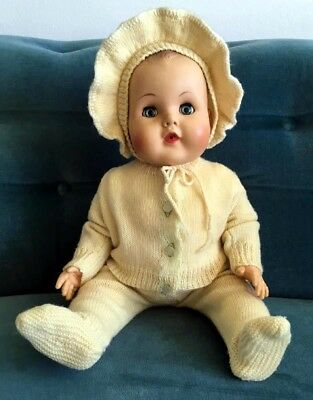 """Vintage 1950's Toddles American Character Baby Doll Jointed 21"""""""