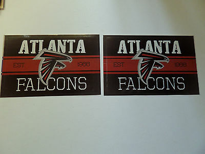 Lot Of 2-Atlanta Falcons Nfl Approved Brand New Vintage Stickers