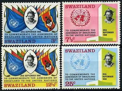 Swaziland 1969 SG#176-9 Admission To The United Nations MNH Set #D58675