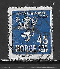 NORWAY - 1925.  Annexation of Spitzbergen - 45o., Used.