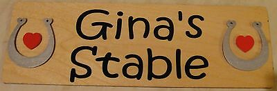 Natural Wood * Stable Door Plaque Name Plate Sign * Personalised * Bedroom  Wall