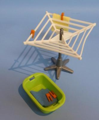Playmobil Rotary Clothes Dryer Pegs Basket Towels ++ spares accessories - House