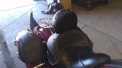 2014- UP INDIAN CHIEF/CHIEFTAN or SPRINGFIELD QUICK RELEASE DRIVER BACKREST SOLO