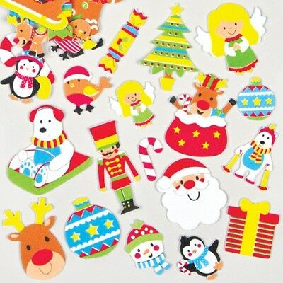 20 Mixed foam Christmas themed stickers in an assortment of designs