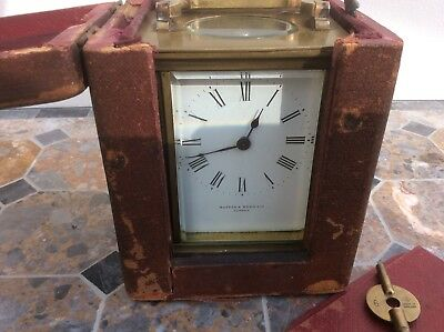Vintage Mappin & Webb Carriage Clock With Case Gwo