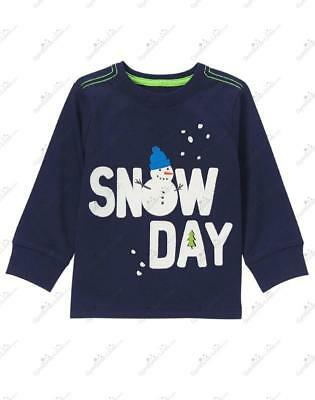 NWT Gymboree Slope Star Baby Boys Snow Day Applique Tee/Shirt, Size 12-18 Months