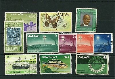 Malawi.11 --- 1966/7 Used Stamps On Stockcard