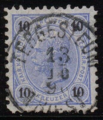 "Austria Empire  Italy  Postmark / Cancel    ""tergesteum  Triest""   1896"