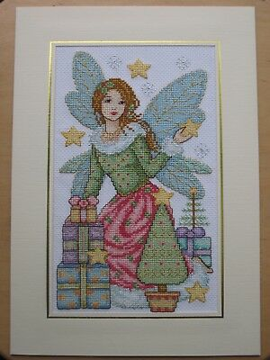 Ex Large Completed Cross Stitch Card-  CHRISTMAS FAIRY