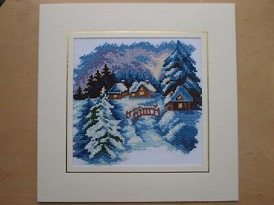 Ex Large Completed Cross Stitch Card- WINTER