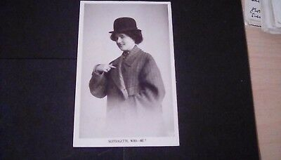 Social History/Suffragette,comic Rp postcard,Suffragette,Who -Me?Posted 1910.