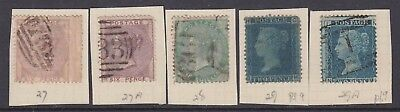 GREAT BRITAIN SC 27-29 CANCELS MOUNTED $565 SCV 99c NO RESERVE