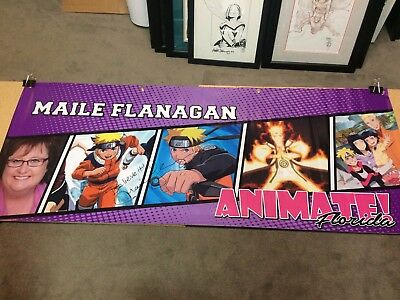 Maile Flanagan Signed Animate Florida Event Banner Naruto