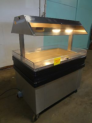 """ Bki "" H.d.commercial Heated Lighted ""hot"" Food/chicken Island Merchandiser"