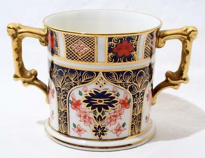 Royal Crown Derby RCD Twin 2 Handled Old Imari Pattern Loving Cup 1128