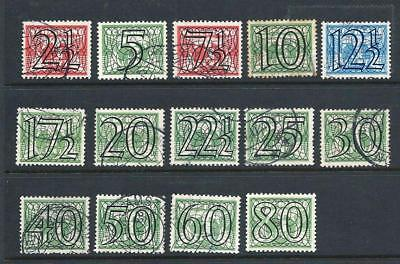 Netherlands 1940 - Guilloche stamps - selection - 14 values - Used