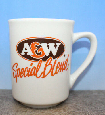 A&W Special Blend Coffee White China Mug Cup Tea English & French Vintage (C)