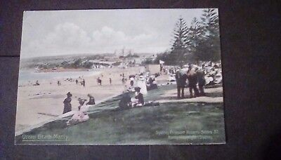 Australia,NSW,Manly,Ocean Beach,early printed postcard.Sydney Pleasure Resorts .