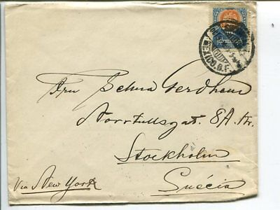 Mexico cover to Sweden 1905
