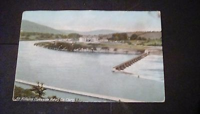 Ireland,Co.Clare,Lakeside Hotel printed postcard,posted 1908 from Killaloe.