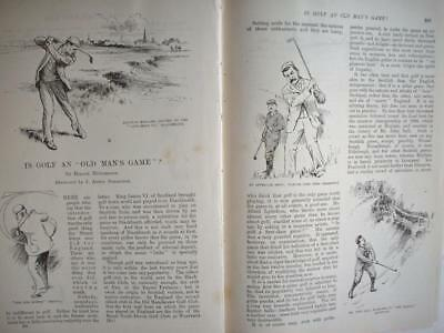 1895 Game of GOLF some thoughts ::: vintage magazine article xn