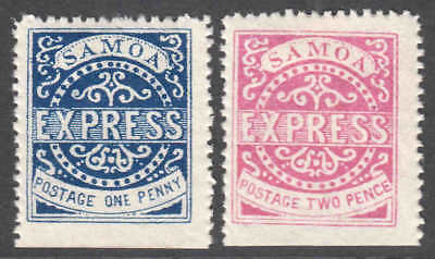 SAMOA 1b, 2 OG H M/M VF BEAUTIFUL GUM $175 SCV 99c NO RESERVE
