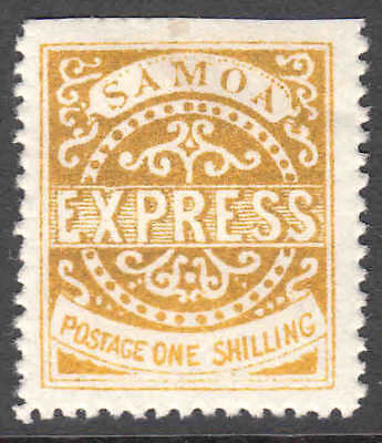 SAMOA 6c GOLDEN YELLOW OG H M/M VF $110 SCV 99c NO RESERVE