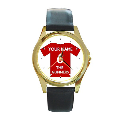 Football Shirt Customised Gold-Tone Wristwatch - Choose Your Name & Number